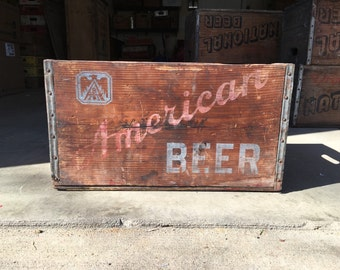 Very Rare Vintage Early 1958 American Beer Wood Crate Baltimore MD