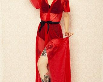 Full length retro robe