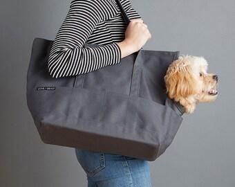 PREORDER: Canvas Pet Tote Dark Gray - Dog Carrier