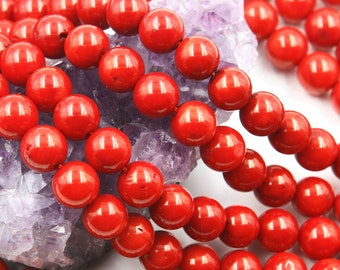 Lot of 5 strands 10mm Bamboo Coral (D) Loose Spacer Beads Round 15.5 inch strand (BD5937)