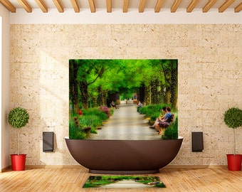 Shower Curtain Kenyon College Gambier Ohio Middle Path
