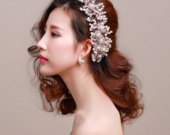 Bridal Headpiece, Earrings, Style #221