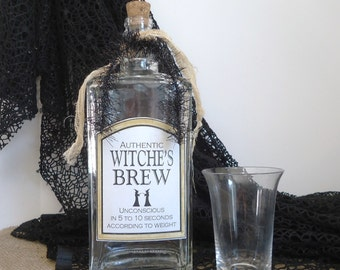 Halloween party decor, witches brew, Halloween bottle, bar decor, ready to ship, witch kitchen, haunted house, prop, witch spell potion