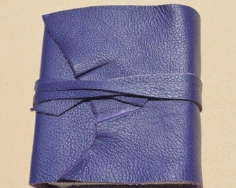Custom Handmade Leather Bound Journal Purple Art Diary Pocket Notebook Special Order (563B)