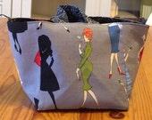 Knitting project bag - Madmen