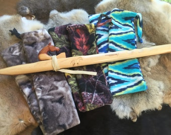 Flute Sock - Native American Flute - pattern - fleece bag pouch tote bag liner protection