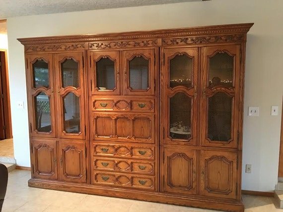 Wall Unit Desk Bookcase Curio Cabinet Display Cabinet