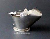 Metal Coal Scuttle Ashtray - Coal Bucket - Ash Bucket - Mid-Century - Patio - Novelty - Tobacciana