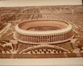 Free shipping! Veterans Stadium Philadelphia actual Kodak photograph 1980's