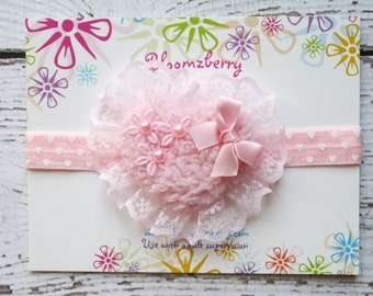 Heart Valentine Headband - Pink Color - Pink Heart Headband -Valentine/Birthday/Photo Props/Spring - Heart Headband-Baby to Adult
