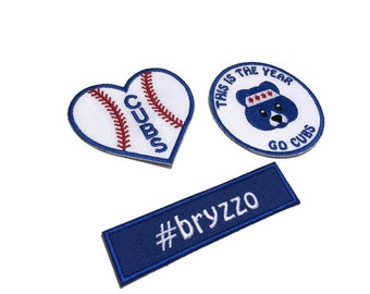 BRYZZO Chicago Cubs Patch Bear Patch Chicago Patch Cubs Fan Iron on Patch Baseball Patch #bryzzo Patch
