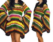 CROCHET PATTERN * hiPPie DReSS - TuniC * e-Book , US-english & german, pdf-datei, crochet Hippiedress, granny square