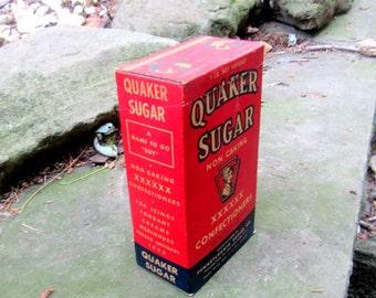 quaker sugar xxxxxx confectioners 1 pound box pa sugar co