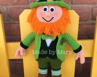 PDF Pattern: Lucky the Leprechaun *Crochet Pattern Only, Not Actual Doll**