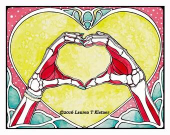 Show of Hands - Fine Art Print - Wall Decor- Wall Art - Anatomy - Nouveau hands, Love, Medical