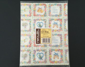 Vintage Gift Wrap - Buzza - Bridal Shower Wrapping Paper -