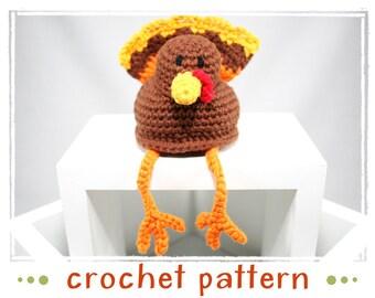 Turkey - Shelf Sitter - Crochet Pattern - PDF file - Amigurumi