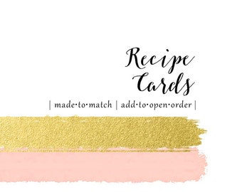 Made to Match Recipe Cards - Set of 10 - add this listing to your invitation order