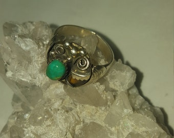 Turquoise and claw ring
