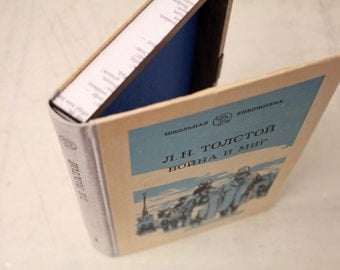 """Hollow Book Treasure Box Sherlock """"Tolstoy"""", Book Safe with Magnetic Closure"""