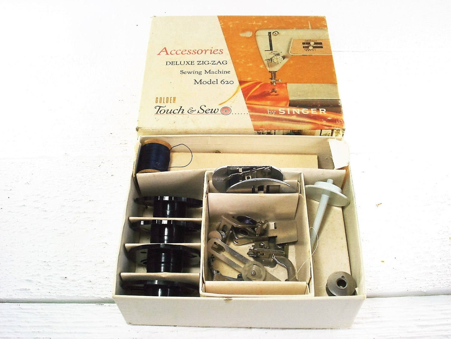 Vintage Singer Sewing Machine Accessories Touch & Sew 600