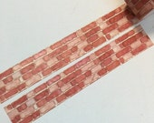 1 Roll of Limited Edition Washi Tape: Red Brick Wall