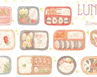 1 Roll of Limited Edition Washi Tape: Lunch Set