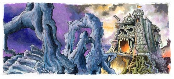 Heman - Castle Greyskull Poster Print