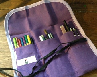 Pencil Roll - Purple