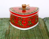 Red Italian triangular tin