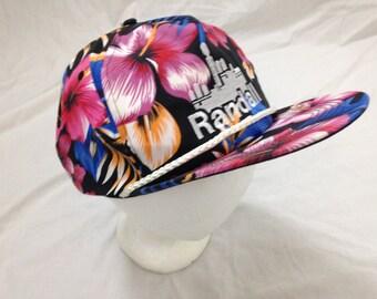90s tropical hawaiian snapback hat