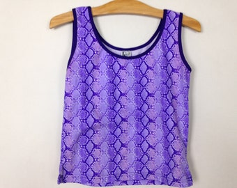 90s purple snake skin top size M