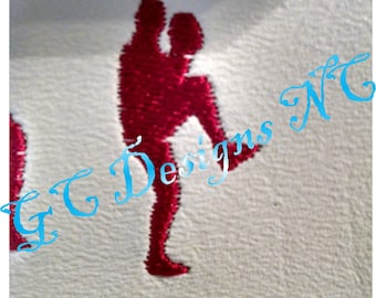 Small Baseball Pitcher Embroidery Design