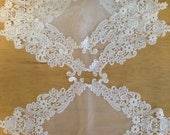 LOT 3EA 40% SALE Wedding Ivory LaceTable Doily Runner,Embroidery&Lace 48x24cm