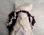 Winter Cat Doll/ Cloth Girl Doll / Soft Girl Doll/ Handmade Doll/ Best Friend for Girl/ OOAK Doll /Cat Hat