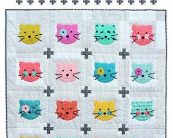 Kitty Girl Kids Quilt Pattern #CR192 by Cabbage Rose