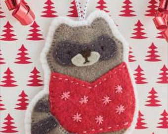 Holiday Sweater Raccoon Ornament Pattern #S601 by Martingale