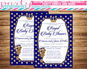 Royal Prince Baby Shower Invitation, African American Baby Shower Invitation, Design #184