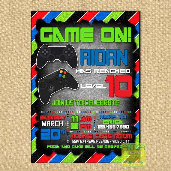 Gaming invitation – Video Game Party Invitation