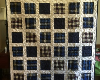 Memory Quilt made from Loved Ones clothing - DEPOSIT ONLY
