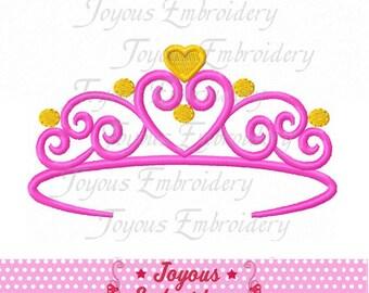 Instant Download Princess Crown Digital Machine Embroidery Design NO:2166