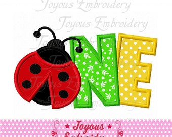 Instant Download Ladybug ONE/First Birthday Applique Machine Embroidery Design NO:2002