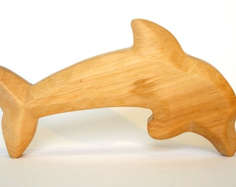 Dolphin, Woodcarving, Waldorf toy, Sea Animals