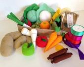 Build your own Pretend Play Felt Food Bumper Hamper