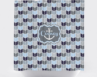Anchor Shower Curtain Etsy
