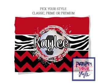 Soccer Team Blanket - Pick Your Colors - Graduation Gift - Throw Blanket - Personalized Blanket