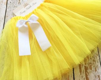 Yellow TuTu, Baby TuTu with matching bow, Toddler Tu Tu, Ballerina Tu Tu, Baby Tu Tus, Tutus, Baby Tutus