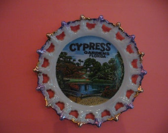 Cypress Gardens, Florida Collectible Plate