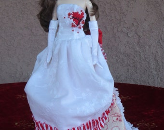 Elizabeth Lavenza gothic Victorian gown for Barbie