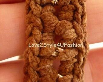 Bracelet Homme, Mens Anchor Bracelet, Guy Bracelets, Yarn Bracelets, Knit Bracelet, Just For Him, Suede Bracelet, Bracelet for Men / Women